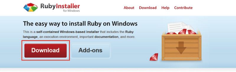 rubyのダウンロード