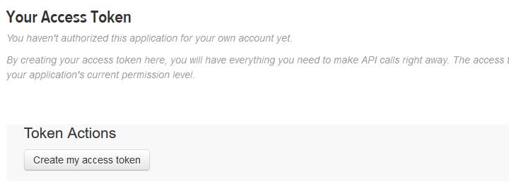 Create my access token