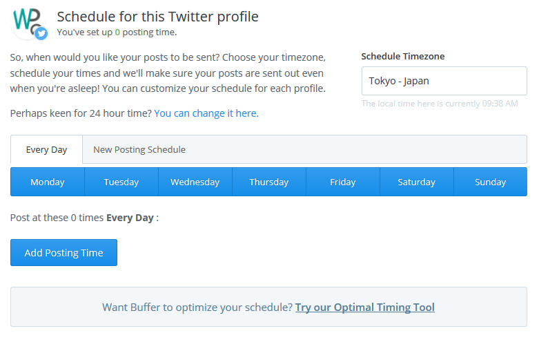 Try our Optimal Timing Tool