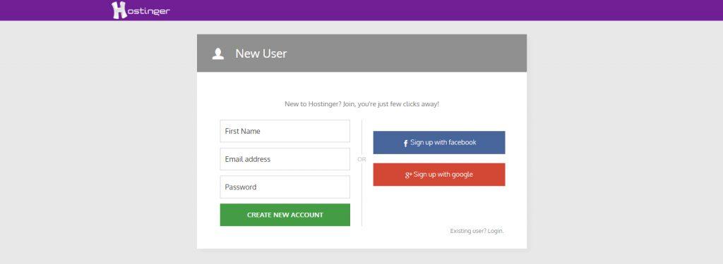 新しいユーザー 情報を入力