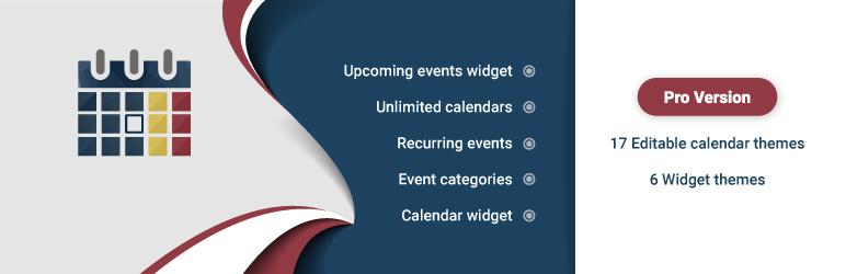 Calendar by WD – Responsive Event Calendar for WordPress メインビジュアル