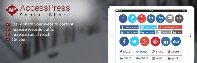 Social Share WordPress Plugin – AccessPress Social Share メインビジュアル